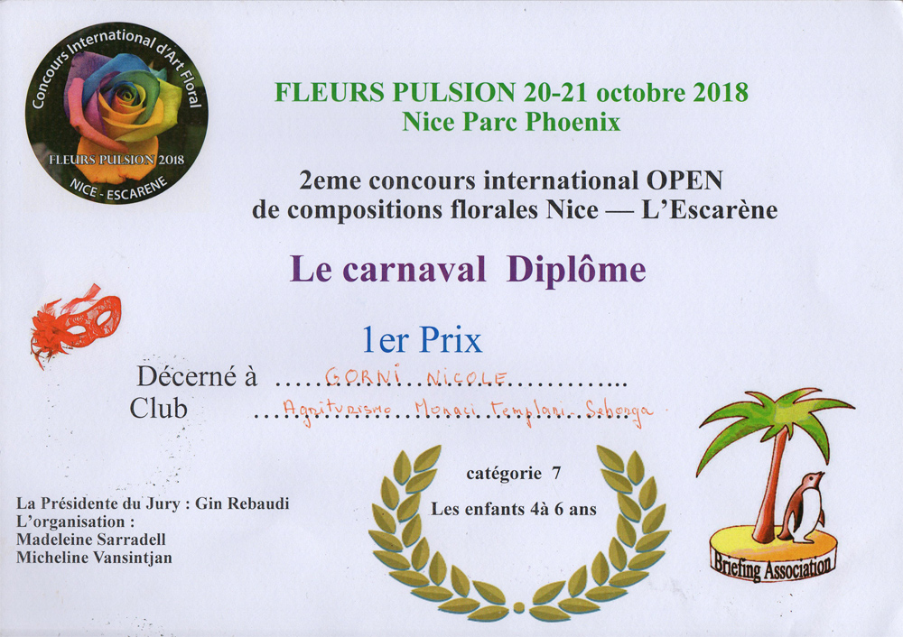 Fleurs pulsione Concours Composition Nice