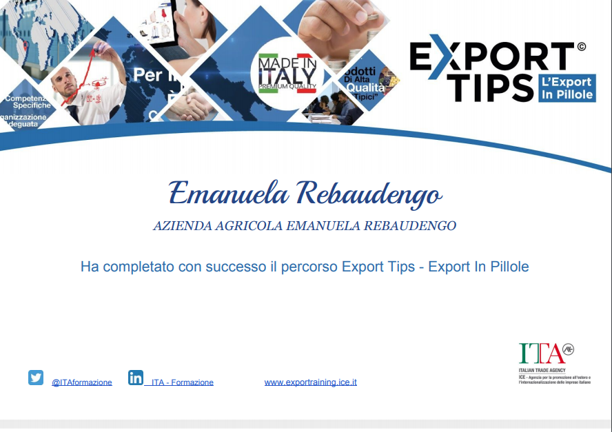 Export tips business, Monaci Templari, Agrifarm, ICE, Italia, Liguria, Doha, Vancouver, Berlin, Monaco, Nice, France